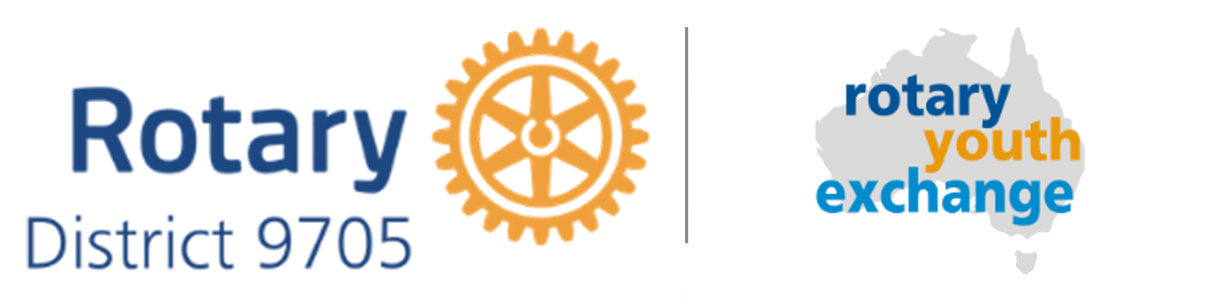 Rotary District 9705 Youth Exchange Australia Logo
